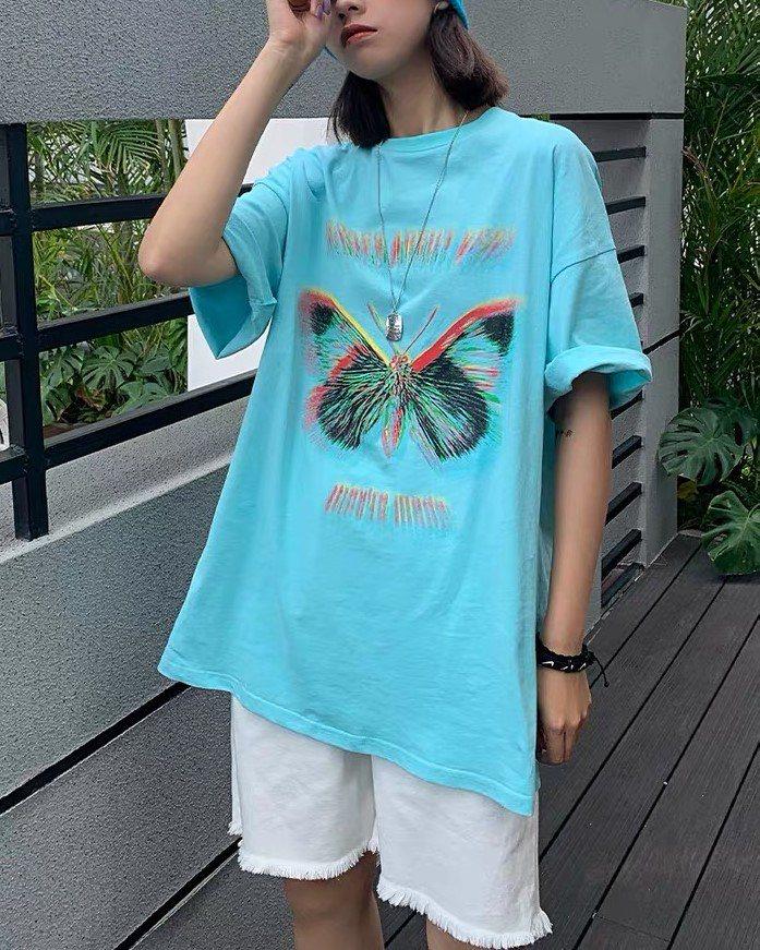 《2色》バタフライモーションブラーTシャツの画像3